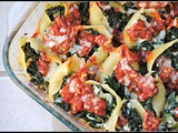 Spicy Kale-Stuffed Shells