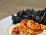Spicy Shrimp with Cauliflower Mash and Kale