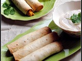 Src: Crispy Baked Breakfast Taquitos with Lime-Chipotle Dip