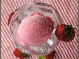 Strawberry Buttermilk Sherbet