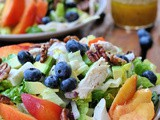 Summer Salad with Nectarines, Blueberries, and Chicken