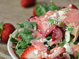 Summer Salad with Strawberry Dressing
