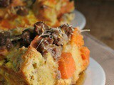 Sweet Potato and Sausage Strata + Weekly Menu