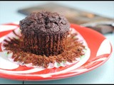 Vegan Double Dark Chocolate Muffins + Weekly Menu
