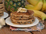 Vegan Whole Wheat Banana Nut Pancakes