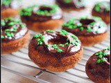 Whole Wheat Baked Banana Doughnuts with Chocolate Ganache