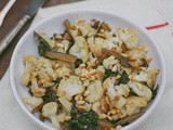 Oven Roasted Cauliflower & Chard