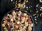 Popped Quinoa Granola with Nuts, Seeds and Cranberries