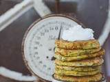 Zucchini Pancakes with Goat Cheese