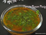 Easy Tomato Rasam Recipe,how to make simple Tomato Rasam