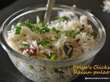 Quick Ghee Raisins Pulao recipe,how to make dryfuit pulao