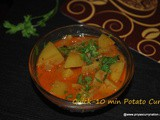 Quick Potato Curry recipe, how to make Jhatpat aloo subji