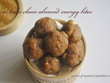 Easy chocolate almond energy bites recipe, easy simple no bake energy bites recipe