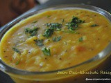 Jain dal Khichdi recipe,how to make dal khichadi without garlic-onion