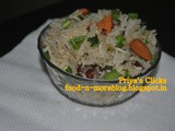 Recipe : Spring Onion and Almond Pulao / How to make Spring Onion Pulao / Badam And Onion Pulav
