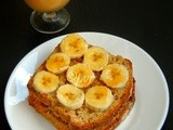 Banana & Maple Syrup Sandwich/Vegan Banana Breakfast Sandwich