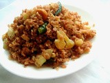 Cauliflower & Red Rice Flakes Upma