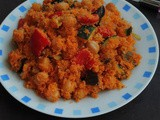 Chickpeas Couscous Paella/Vegan Chickpeas Paella with Couscous