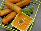 Chinese Veg Spring Rolls with mw Thai Peanut Sauce