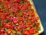 Coca de Venduras/Coca Vegetable/Vegan Catalan Style Vegetable Pizza