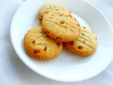 Eggless Cardamom & Chironji Butter Cookies