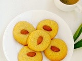 Eggless Cornmeal Almond Cookies