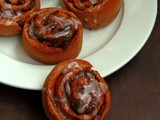 Eggless Ragi & Chocolate Chips Cinnamon Rolls