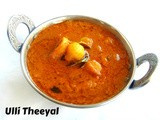 Ulli Theeyal/Shallots in Tangy Roasted Coconut Gravy