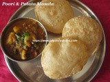 Breakfast Combo Ideas/Poori & Potato Masala Recipe/How to make Poori & Potato Masala with step by step photos
