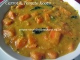 Carrot & Tomato Kootu [No grinding]