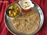 Chapathi Recipe/How to make soft Chapathi/Wheat Flour Chapati Recipe