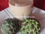 Custard Apple Juice/Sitaphal Juice/Seetha Pazham Juice & Health Benefits of Custard Apple