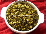 Kothavarangai Poriyal Recipe/Cluster Beans Stir Fry Recipe/How to make Kothavarangai Poriyal with step by step photos