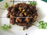 Mutton Fry/Goat Meat Fry