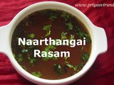 Naarthangai Rasam/Citron Rasam/How to make Naarthangai Rasam with step by step photos and Video
