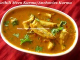 Nethili Meen Kurma Recipe/Anchovies Kurma Recipe/Nethili Meen Thithippu/Nethili Meen Curry with Coconut with step by step photos/ நெத்திலி மீன் குர்மா/ நெத்திலி மீன் தித்திப்பு