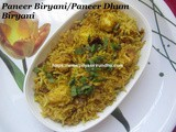 Paneer Biryani/Paneer Dhum Biryani – How to make Paneer Dhum Biryani with step by step photos