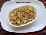 Paneer Pulav Recipe/Paneer Pulav with Fresh Ground Masala/How to make Paneer Pulav with step by step photos