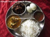 South Indian Lunch Menu Idea- 16/Lunch Menu Ideas/Simple Non-Vegetarian Lunch Menu Idea