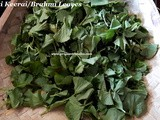 Vallarai Keerai Poriyal Recipe/Brahmi Leaves Stir Fry Recipe/ Indian Pennywort Thuvaiyal/ Vallarai Keerai Stir Fry with step by step photos
