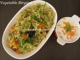 Vegetable Biryani – 2nd Method/South Indian Style Vegetable Birynai