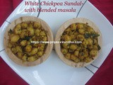 White Chickpea Sundal/Kondakadalai Sundal – With freshly roasted ground masala