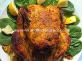 Whole Chicken Roast [With Indian Tandoori Masala]