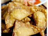 Crispy Fried Wonton with Chicken and Prawn Minced