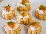 Salmon Cream Cheese Vol Au Vents