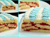 My Steamroller Swiss Roll turned layered butter cake
