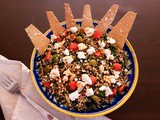 Sprouted Sorghum (Jowar) And Spinach Salad