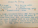 My Grandmother's Recipe - Lemon Pie Filling