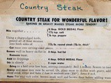 My Mom's Recipe Collection - Country Steak