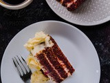 Eggless Red velvet cake with cream cheese frosting